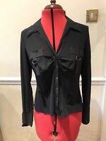 Black Military Boho Chic Shirt Marks & Spencer Size 14 Long Sleeve NEW Rrp £35