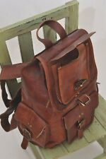 Leather Rucksack Vtg Outdoor Products Travel Backpack Camping School Bag Pack