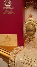 Vintage Russian Faberge Goose egg Frendship 24k Gold Musical Photo frame Hanmde