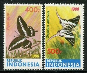 Indonesia 1988 Butterfly set Sc# 1371-73 NH