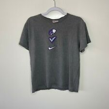 Nike T-Shirt Youth Boys Size L Gray Vtg 90s Made in USA Heart Peace Tee