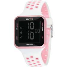 Orologio Donna SECTOR EX-14 R3251509003 Digitale Silicone Bianco Rosa  Chrono