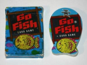 Vintage 1951 Ed-U-Cards GO FISH Card Game! Complete in Box! Fish-Shaped Cards!