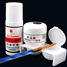 Pro Acrylic Powder Nail Liquid Art Tips Dappen Dish UV Brush Tool DIY Kit Set