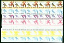 St. Vincent Union 1985 Birds 15c proof strips of 10