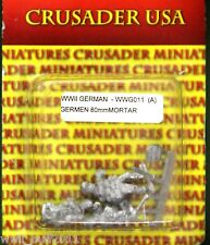 Crusader WWG011(A): 28mm German 80mm Mortar (3 Figures)