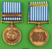U.N. Korean War Service Medal - United Nations UN - made in the USA -  Full Size