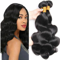 8A Peruvian Human Hair Extensions Virgin Body Wave Human Hair Weft 1-3 Bundles