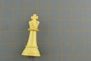 Whitman Chess King Piece White Vintage Plastic Hollow Replacement Part