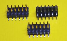 3x SMD Stiftleiste 2x 6-polig , RM 1,27 mm , Samtec