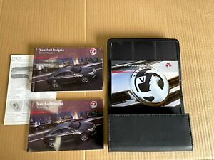 VAUXHALL INSIGNIA GENUINE MANUAL HAND BOOK WITH LEATHER COVER