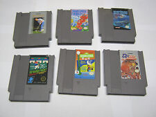 NES Nintendo cartridge lot (6), Snake Rattle N Roll, Jack Nicklaus, etc.,TESTED!