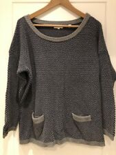 Chinti and Parker Blue Grey Polka Dot Jumper Sweater S Small
