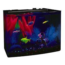 New listing New Aqua Fish Tank 3 Gallon Aquarium Kit Plastic Includes Hidden Blue Led Light