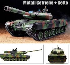HENG LONG   Panzer German Leopard 2A6 Pro 1:16 Rauch&Sound Metallgetriebe+Ketten