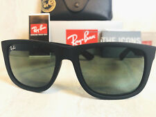 Ray Ban RB4165 601/71 Justin Black Frame/Green Classic Lens 54mm Wayfarer Style