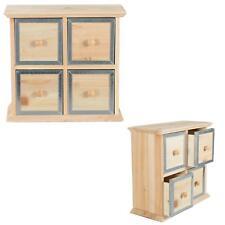 Mini Commode Commode Métal armoire bois naturel Shabby Chic Rangement