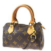 Auth LOUIS VUITTON Mini Speedy 2Way Hand Bag Monogram Leather M41534?84MF623