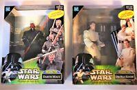 Star Wars Power of The Jedi - Darth Maul & Obi-Wan Kenobi Mega Action Figure