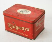 RIDGWAYS LIMITED MERCHANTS TEA ENGLAND SCATOLA IN LATTA VINTAGE ANNI 60 70 VUOTA