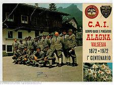 Autografi maestri sci alpino su cartolina guide CAI Club Alpino Alagna Valsesia