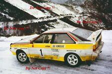 Walter Rohrl Audi Quattro A2 Winner Monte Carlo Rally 1984 Photograph 1