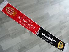 Echarpe scarf Qarabag FK AS MONACO FC asm signed LACINA TRAORE uefa 15/16