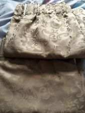 1 Pair  Brown  Lined Curtains