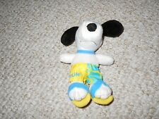Metlife Met Life Snoopy Yellow Blue Surf Shorts Sandals Open Good Condition