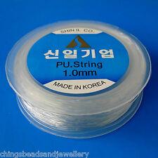 30M Stretch Cordón Elástico Transparente Cuentas Hilo 1.0mm fabricación de joyas