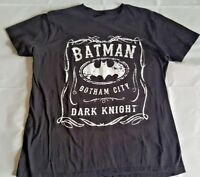 DC Comics Batman Gotham City Dark Knight T-Shirt Size XL Black White Print