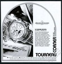 1990 Jaeger-LeCoultre Le Grand Reveil moon phase watch photo vintage print ad