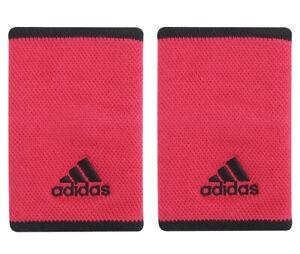 adidas Tennis Wristbands L Sports Badminton Sweatband Pink Racket 2 PC GH4509