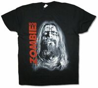Rob Zombie Close Up X Head Pic Black T Shirt New Official Merch Soft