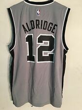 Adidas NBA Jersey San Antonio Spurs LaMarcus Aldridge Grey sz S