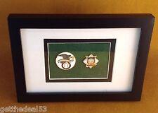 Framed - American League Baseball & National League Baseball - 2 set medallion