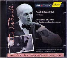 Carl Schuricht: Brahms un Allemand Requiem CD Maria STADER Hermann proie