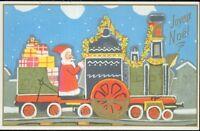 Fantasie - CPA - Joyeux Weihnachtsmann