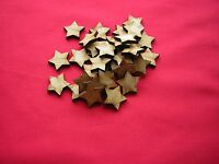 2cm / 20mm MDF STARS x 100  - LASER CUT WOODEN SHAPE