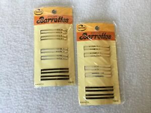 "Vintage Goody Hair Accessories 2"" Barrettes 8903 1993 Stay-Tight  Two Packs NOS"