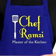 Personalized Chef Apron.  Custom Chef Apron. Master of the Kitchen Apron