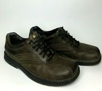 Merrell World Compass Dark Earth Mens Size 9.5 Brown Leather Oxford Casual Shoes