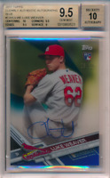 2017 Topps Clearly Authentic Blue /25 Luke Weaver RC BGS 9.5 10 Sub 10 Auto POP1
