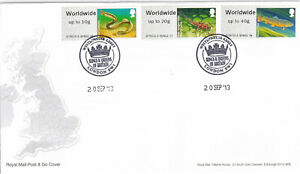 (44460) GB FDC Post & Go Rivers Freshwater Life Kings & Queens Westminster 2013