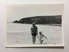 Vintage Real Photograph - #S - Mother And Daughter On Beach - 9 of 9
