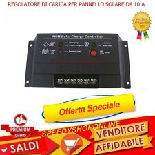 CENTRALINA REGOLATORE DI CARICA PER PANNELLO SOLARE 10A LED 12V /24V PER PANNELL