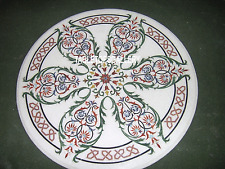 18'' White Marble Coffee Table Top Floral Art Inlay Marquetry Patio Decor H3359A