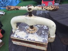 Molto pesante Originale Vintage Antico Ghisa Decorativo vincolante LIBRO STAMPA VICE