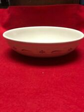 "Longaberger Pottery Woven Traditions Red 9 1/2"" oval serving dish"