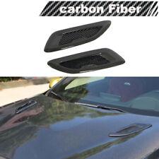 2PCS Carbon Air Flow Intake Scoop Turbo Bonnet Vent Cover Hood Universal stick